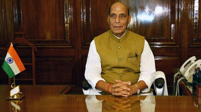 Giving an account of the situation along the Line of Control (LoC), the annual report says that the Indian Army gave a befitting retaliation to Pakistan Army in Sunderbani sector on November 12 last year. (Photo :Rajnath Singh | Twitter)