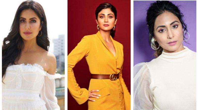 Actress Katrina Kaif, Shilpa Shetty Kundra and Hina Khan