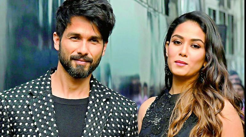 Actor Shahid Kapoor and his wife Mira Kapoor