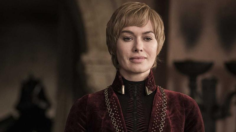 Cersei looks on at the battle taking place in the distance. (Photo: HBO)