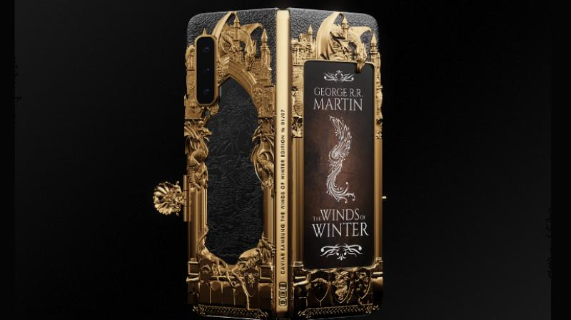 The Game of Thrones Caviar Samsung Galaxy Fold is based on The Winds of Winter.