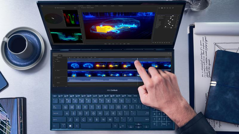 The brand new Celestial Blue colour gives ZenBook Pro Duo a sophisticated air of timeless innovation.