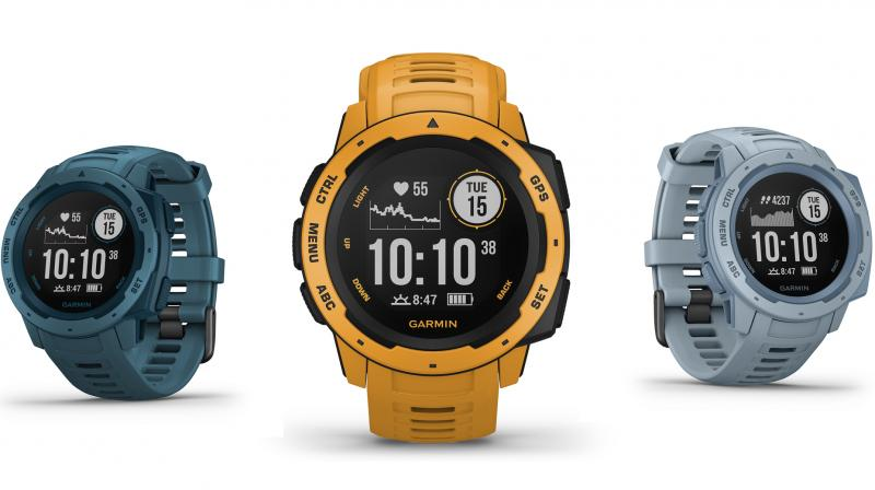 The Garmin Instinct comes in a fiber-reinforced polymer case and is thermal, shock and water resistant.