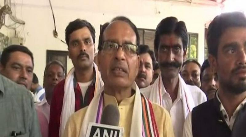 Shivraj said, 'People who have sedition charges against them and who make anti-national statements are campaigning for them-- are these the only people who Digvijay Singh has got for campaigning?' (Photo: ANI)