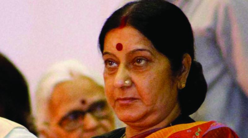 Swaraj tweeted, 'Even after massive evacuation from Libya and the travel ban, there are over 500 Indian nationals in Tripoli.' (Photo: File)