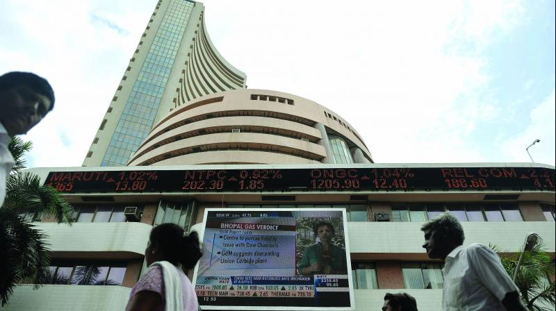The broader NSE rose 71.35 points, or 0.59 per cent, to 12,127.