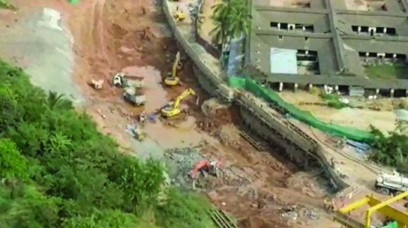 A screengrab of a video showing construction work at the site. (Photo: AA)