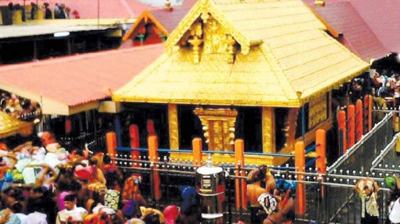 Sasikala, who was accompanied by her husband, Saravanan, and son for darshan, told reporters at Pamba that she was not allowed to offer prayers at the temple. (Photo: File | PTI)