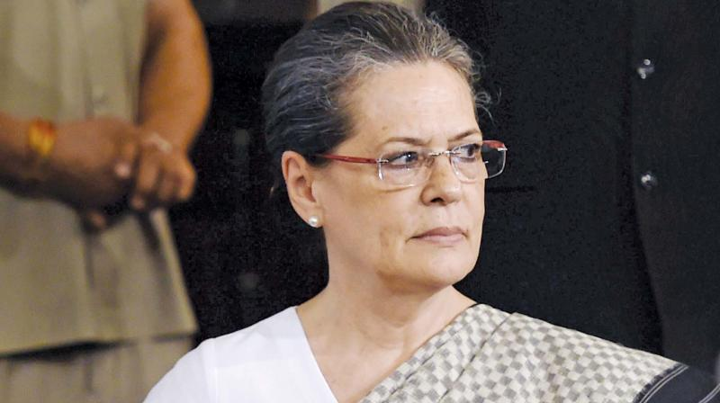Speaking to reporters, Congress interim president Sonia Gandhi welcomed the Supreme Court's order to hold a floor test in Maharashtra within 24 hours or by Wednesday. (Photo: File)