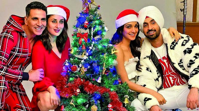 Akshay Kumar, Kareena Kapoor Khan, Ajay Devgn, Kajol, and Salman Khan are among those celebrating Christmas in the maximum city, harbouring high hopes for their end-of-year releases.