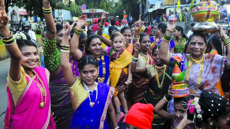 File picture of fisherwomen celebrating Narli Poornima earlier this year.
