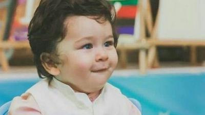 The very adorable Taimur Ali Khan during his birthday.
