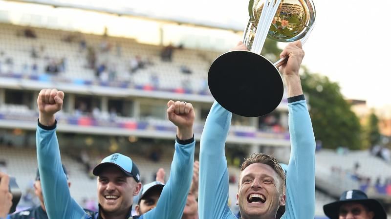 The World Cup final witnessed a first-ever super-over in which England came out triumphant as they had scored more boundaries in the match to lift their maiden 50-over title on July 14. (Photo:AFP)