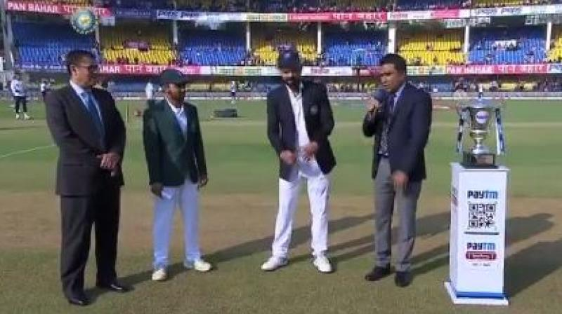 Bangladesh won the toss and elected to bat first in the first Test of the two-match series against India at the Holkar Cricket Stadium here on Thursday. (Photo: BCCI/Twitter)