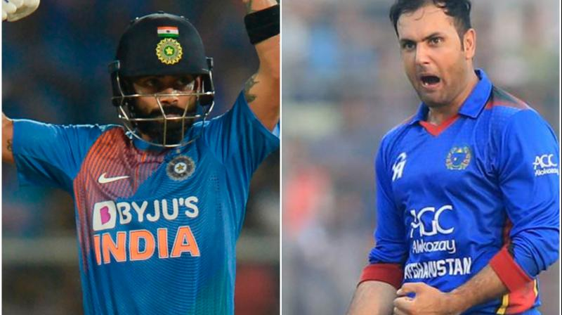 Afghanistan all-rounder Mohammad Nabi has great feelings in sharing a record with team India captain Virat Kohli. (Photo:AFP)