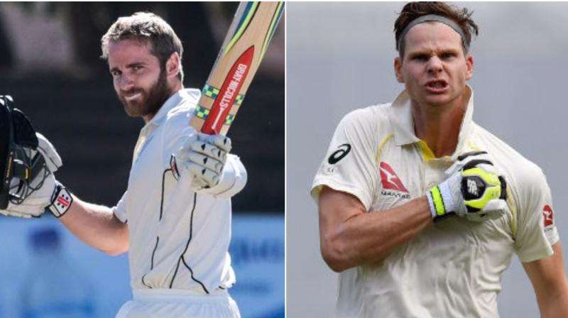 Australia batsman Steve Smith hailed New Zealand skipper Kane Williamson for having a 'terrific work ethic' and is hoping to keep him quiet in the upcoming series. (Photo:AFP)