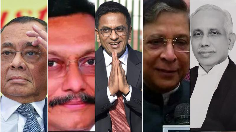 The five-judge constitution bench headed by Chief Justice Ranjan Gogoi, includes Justices S A Bobde, D Y Chandrachud, Ashok Bhushan and S Abdul Nazeer. (Photo: File)