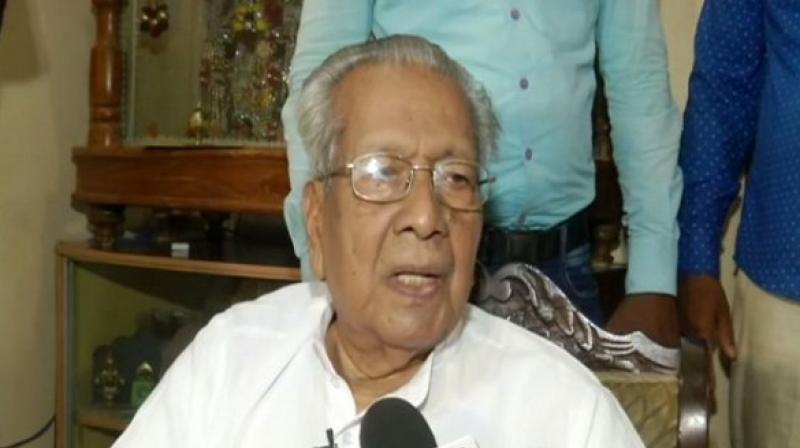 On being asked about the border dispute Odisha and Andhra Pradesh is facing, senior BJP leader Harichandan said that though the role of the Governor is limited he will be happy if he will be able to discuss the issues with both the states and be able to bring out some solution. (Photo: ANI)