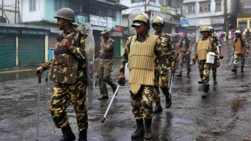 Security forces patrol the streets of Srinagar. (Photo: File)