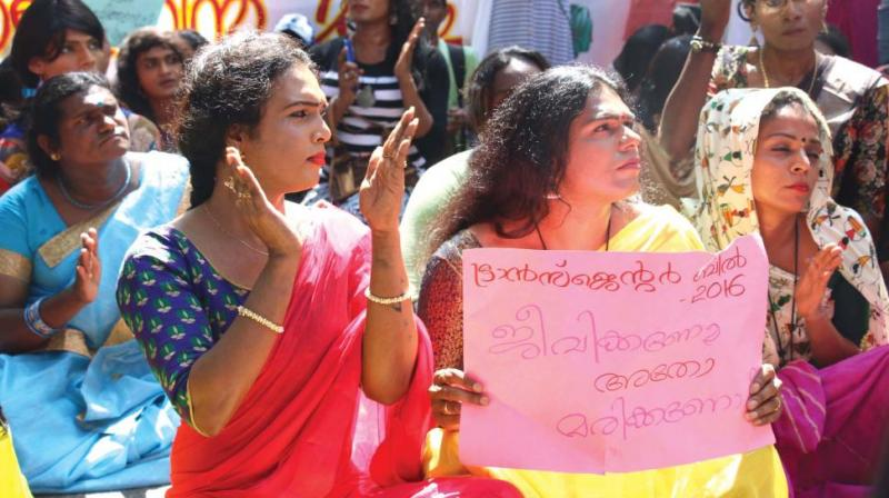 Sreekutty, president of the Sexual and Gender Minority Federation, says the new bill is not in the interest of the community. (Photo- G .G. Abhijith)