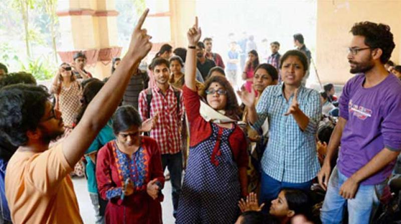 Students of Jadavpur University are firm to continue protesting until their demands are met. (Photo: PTI)