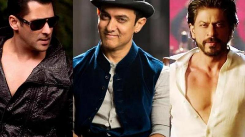 Salman, Aamir and Shah Rukh Khan.