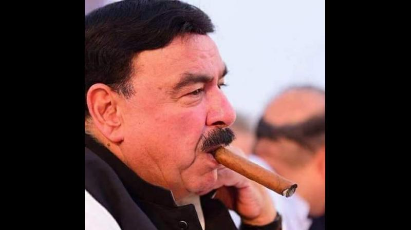 The attack took place when Rashid, who is also the chief of Awami Muslim League (AML), came out from a hotel after attending an awards ceremony in London to smoke a cigar. (Photo: Twitter | @ShkhRasheed)