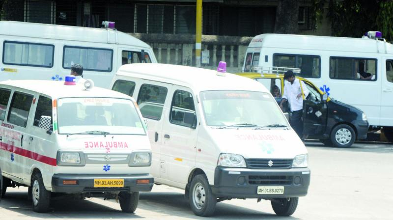 "KEM Hospital's dean, Dr Hemant Deshmukh, said, ""Due to heavy traffic congestion around Parel area mostly it's observed that the ambulances are delayed in reaching the hospitals."" (Photo: Rajesh Jadhav)"
