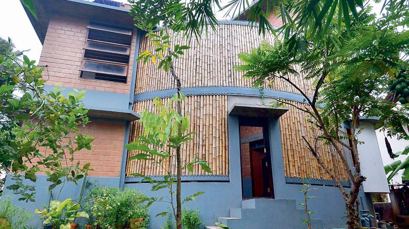 The craze for houses constructed with perforated walls using bamboos is picking up thanks to the efforts of architect R.S. Liza.