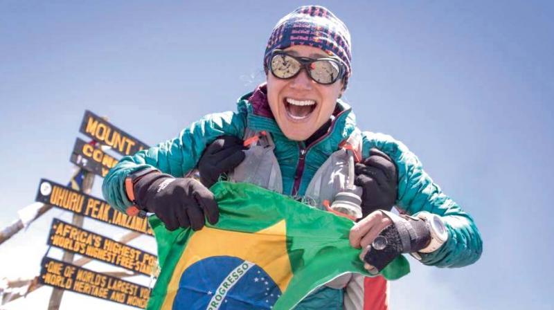 Fernanda Maciel atop the Kilimanjaro