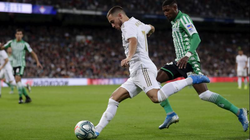 Real Madrid were full of confidence after hammering Leganes 5-0 in mid-week for their biggest win of a stop-start season and appeared to get off to a great start when Eden Hazard struck early. (Photo:AP)