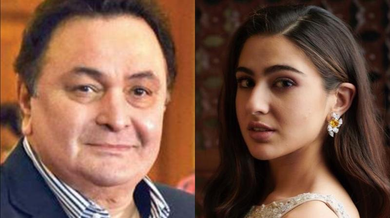 Rishi Kapoor and Sara Ali Khan. (Photo: Instagram)