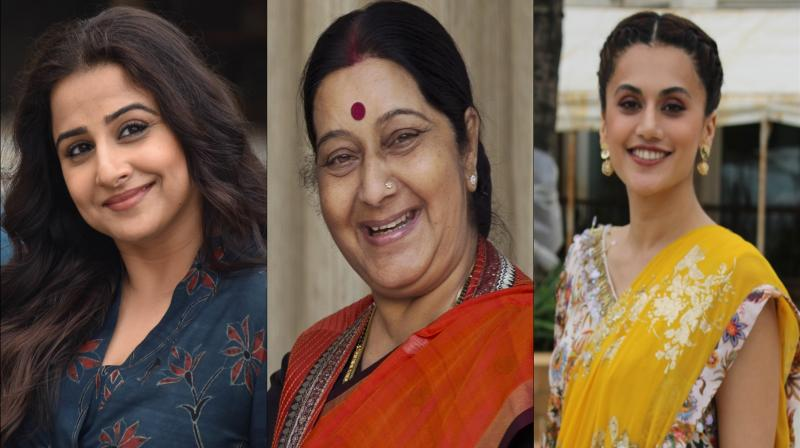 Vidya Balan, Taapsee Pannu want to play ex-foreign minister Sushma Swaraj. (Photos: Viral Bhayani)