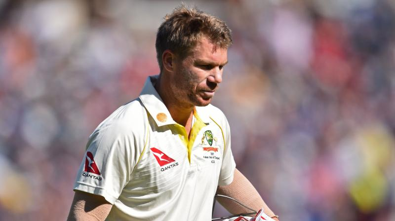 During the whole Ashes series, David Warner only managed to score just 95 runs in the series. (Photo:AFP)