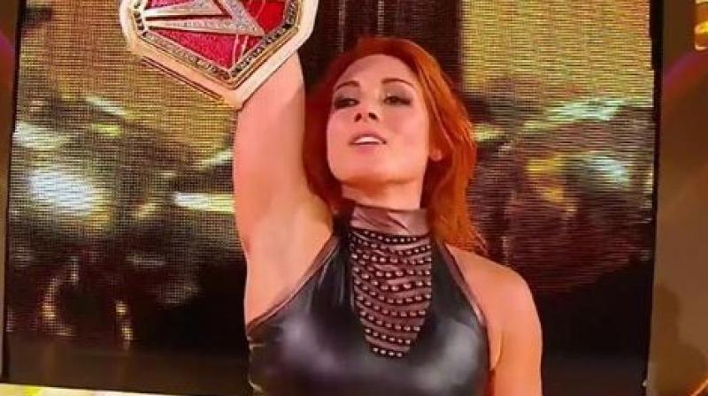 Raw Women's Champion Becky Lynch has been fined USD 10,000 by World Wrestling Entertainment (WWE) for striking a referee with a chair during her Championship Match against Sasha Banks in the Clash Of Champions on Sunday. (Photo: Becky LYnch/Instagram)