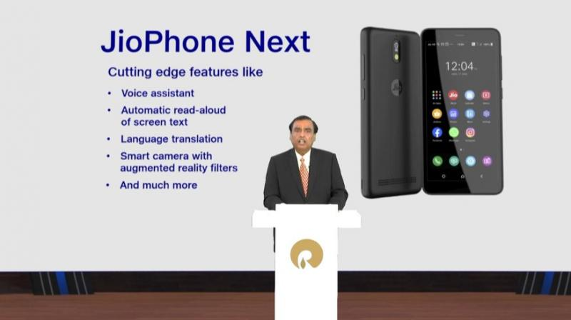 JioPhone Next will be available from September 10, and will be the most affordable smartphone globally. (Photo: Twitter)