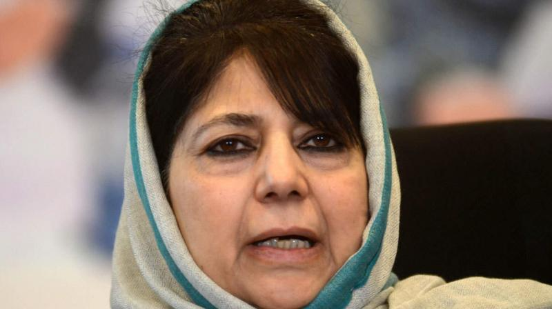 PDP leader Mehbooba Mufti had said the Centre should hold dialogue with everyone including Pakistan to resolve the Kashmir issue. (PTI Photo)