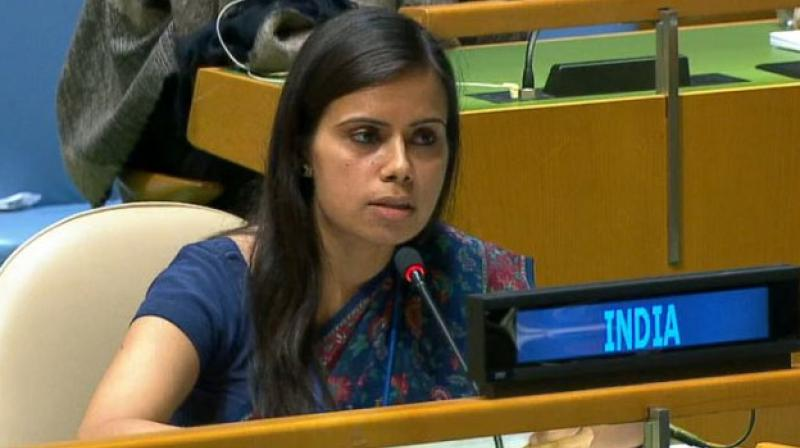In September 2017, Gambhir had made a strong rebuttal by calling Pakistan a 'terroristan' at UN General Assembly.  (photo: ANI | Twitter)