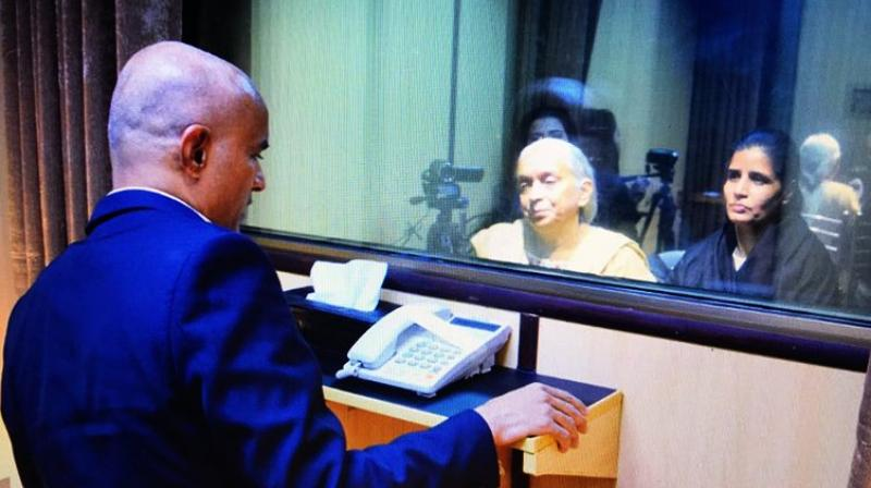 'Jadhav is the face of Indian terrorism in Pakistan' but still his family was allowed to meet on humanitarian and Islamic grounds, Faisal claimed. (Photo: ANI | Twitter)