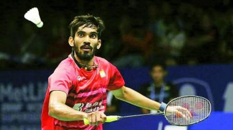Indian shuttler Kidambi Srikanth on Friday progressed to the semi-finals of the ongoing Hong Kong Open after registering a win in the third round. (Photo: File)