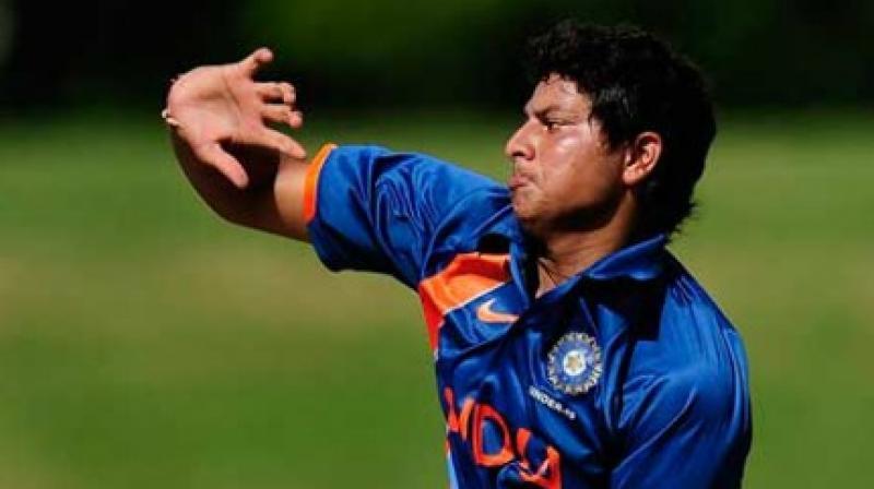 Kuldeep Yadav plays for the Kolkata Knight Riders in the IPL. (Photo: AFP)