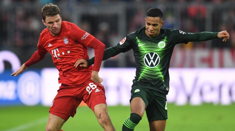 Bayern Munich's Joshua Zirkzee and Serge Gnabry scored late goals to give them a 2-0 win over VfL Wolfsburg at the start of the winter break on Saturday as RB Leipzig sealed the unofficial autumn champions title with a comeback victory over Augsburg. (Photo:AFP)