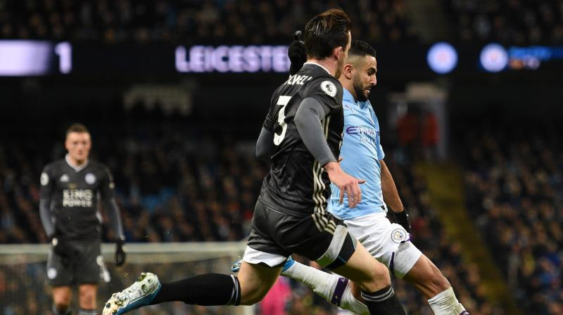 Goals from Riyad Mahrez, Ilkay Gundogan and Gabriel Jesus gave Pep Guardiola's side a win that moved them within 11 points of Liverpool, who don't play this weekend due to their involvement in the Club World Cup. (Photo:AFP)