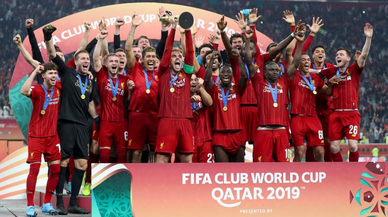 Juergen Klopp described winning the Club World Cup as 'absolutely sensational' after Roberto Firmino's extra-time goal allowed Liverpool to beat Flamengo 1-0 in the final in Doha and lift the Fifa Club World Cup trophy for the first time. (Photo:AFP)