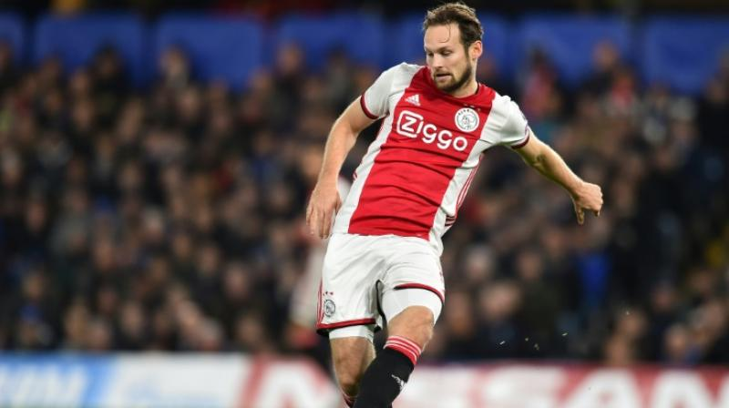 Ajax and Netherlands defender Daley Blind has been diagnosed with a heart condition after suffering dizziness in a Champions League tie with Valencia, the Dutch club said Saturday. (Photo:AFP)