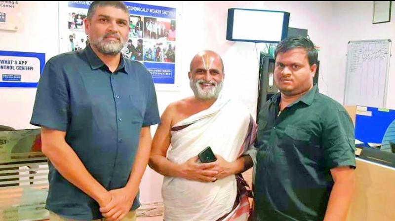 Mujtaba Hasan Askari (left) with C.S. Rangarajan