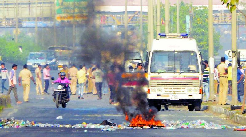 File photo of Bhima-Koregaon violence.