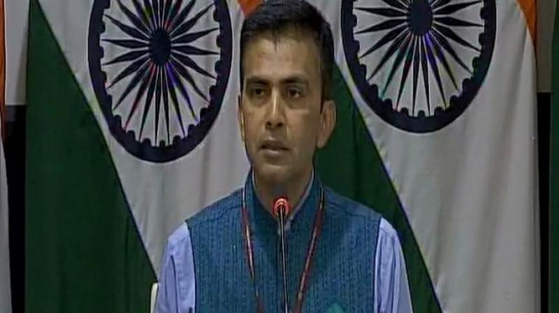External Affairs Ministry Spokesperson Raveesh Kumar. (Photo: Twitter | ANI)