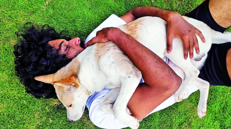 Actor Akshay Radhakrishnan, who was recently caught up in a controversy over bringing his pet dog to a college function, is happy that he is getting support from netizens.