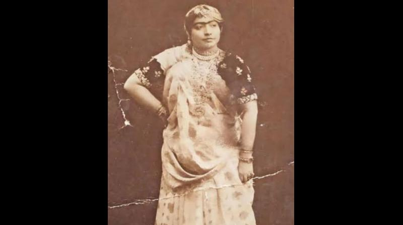 Interestingly, there were several famous female musicians in this category, including Gauhar Jaan, followed by Kesarbai, and still later by Begum Akhtar, who commanded huge fees, sometimes exceeding those of their male counterparts. Gauhar Jaan. (DC Image)